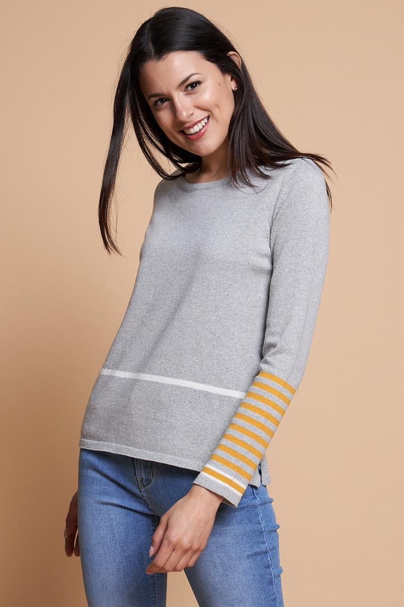 Jersey tricot puños rayas