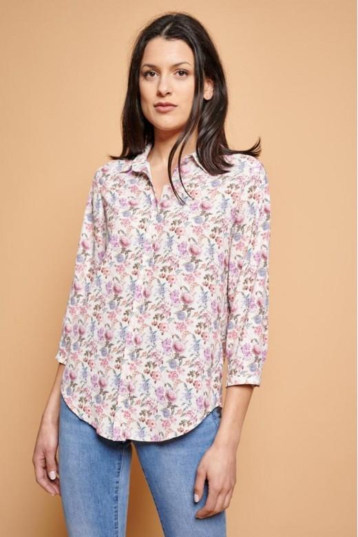 Blusa romántica floral